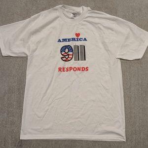 Vintage 911 USA New York Shirt Large